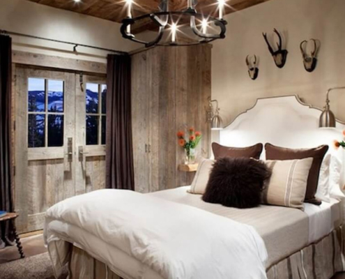 Bedroom with rustic design